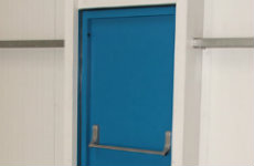 steel hinged door